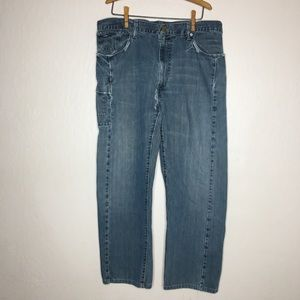 Levi's Redwire straight distressed jeans 38x32
